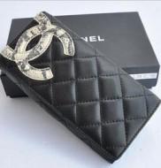 新作 ブランド コピー カンボンライン 収納しやすい便利な 長財布 ブラック×蛇紋