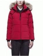 高品質なカナダグース コピー、Canada  Gooseの保温性に優れる赤いレディースダウンジャケット.