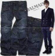 洗濯可能なバルマン デニム balmain スウェットデニム ストレッチフィットのメンズジーンズ.