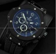 ウブロ 時計 HU301.SE.230 メンズ ビックバーン ブルー文字盤 チタニウム デイト 品質保証の自動巻き HUBLOT 黒メンズウォッチ.