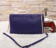 CHRISTIAN LOUBOUTIN ルブタン コピー 最安値お得な2wayレディース チェーンショルダーバッグ クラッチバッグ スパイク 紫.