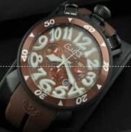 クォーツムーブメント GAGA MILANO ガガミラノ 時計 メンズ コーヒー色 6054.5 デイト 数字表示 ウォッチ 限定セール大得価.