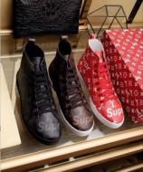 2017秋冬 注目のアイテム 3色可選 優しい履き心地 Louis Vuitton x Supreme