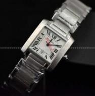 ブランド コピー 専門 店_防水Cartierカルティエ偽物W51008Q3 ホワイト文字盤 クォーツ レディース腕時計 デイトカレンダーウォッチ