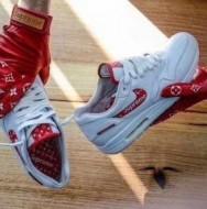 シュプリーム靴激安 Supreme x Louis Vuitton x Nike Air Max 1 メンズスニーカーモノグラムレザー2色可選