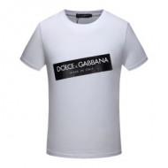 シンプルなドルガバTシャツメンズ丸首D&Gプリント半袖Tシャツインナートップス3色可選