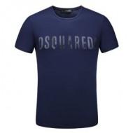 ディースクエアード 半袖 コピー Tシャツ DSQUARED2ロゴ 店舗 通販 サイズ メンズ ホワイト ネイビー スポーツ用