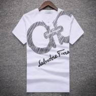 FERRAGAMO サルヴァトーレフェラガモ  偽物 Tシャツ メンズ 人気 ブランド コーデ サイズ 半袖 プリント
