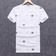 ホット安い サルヴァトーレ フェラガモ Tシャツ 丸ネック シルエット 夏季 メンズFERRAGAMO ブランド コットン
