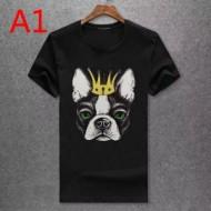 Dolce&Gabbanaドルガバ偽物可愛いプリントした男女兼用クルーネック半袖Tシャツブラック多色可選