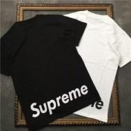 軽く耐久性のあるSUPREMETシャツコピー通販カジュアル無地ロゴプリントブラック、ホワイトメンズクルーネック