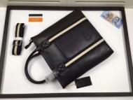 限定特価BALLYバリースーパーコピーメンズ本革ビジネス用ブラックのショルダー付きトートバッグ