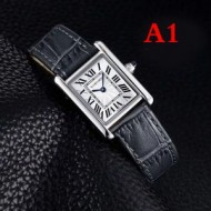 超激得100%新品Cartier☆Tank Americaineカルティエコピー腕時計本革ベルトWSTA0018ブラック、赤色