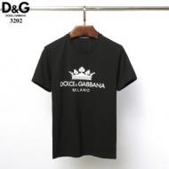 Dolce&Gabbanaドルガバ tシャツ コピーコットンジャージー製ロゴラベル入りのラウンドネックプリント半袖