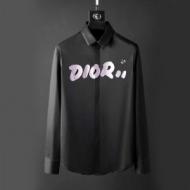 素敵な一着DIOR HOMMEディオール シャツ 偽物DIOR×KAWSプリントイエローのBEEの刺繍メンズロゴシャツ長袖