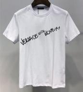 VERSACE ヴェルサーチ 半袖Tシャツ 2色可選 安心送料関税込夏らしい新品 SS19待望入荷VIP価格