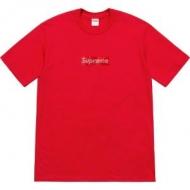 ファッション感が急上昇! Supreme Swarovski Box Logo Tee Tシャツ/半袖 3色可選 夏らしい季節感
