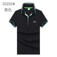 限定セール!ヒューゴボス ポロシャツ メンズ Slim-fit polo shirt in stretch piqué with curved logo コピー 日常 格安