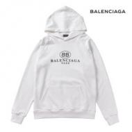 バレンシアガ メンズ パーカー 2019SSで定番中の定番 コピー BB BALENCIAGA MODE ブラック ホワイト カジュアル 品質保証