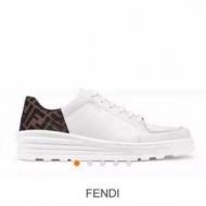 フェンディ FENDI スニーカー メンズ 清潔感ある印象に仕上げる コピー ホワイト ズッカ柄 おすすめ 品質保証 7E1238A7MTF16XZ
