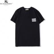 バーバリー Tシャツ コピー 一目惚れほど可愛さが魅力 Burberry メンズ ブラック ホワイト シンプル ブランド 品質保証
