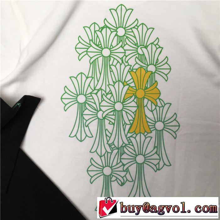 2色可選 スピーディな配送で大人気  CHROME HEARTS 2020春夏コレクション半袖Tシャツ クロムハーツ