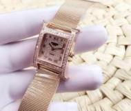 【人気ブログ掲載】 2015春夏物 HERMES エルメス スイスムーブメント 女性用腕時計 サファイヤクリスタル風防