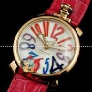 大人な雰囲気満点のガガミラノ 時計 コピー、GaGa Milanoの防水機能に優れるローズレッドウォッチ.