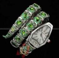 贅沢なブルガリ、Bvlgariの水晶装飾のレディース腕時計.