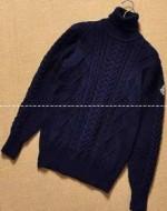 溢れきれない魅力!首胸ロゴMONCLERモンクレール セーターコピー ネイビー メンズ パーカー