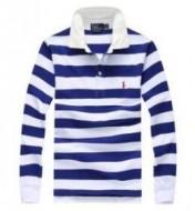 上品 POLO RALPH LAUREN ポロシャツ長袖メンズボーター柄刺繍ロゴ左胸ポケット3色可選