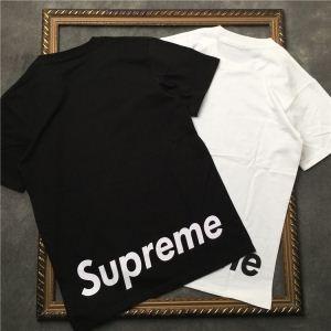ブランド 偽物 激安 通販_軽く耐久性のあるSUPREMETシャツコピー通販カジュアル無地ロゴプリントブラック、ホワイトメンズクルーネック