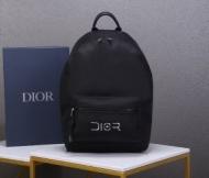 DIOR バックパック 新作 大人らしいスタイルにおすすめ メンズ ディオール コピー ブラック 大容量 通勤通学 最低価格